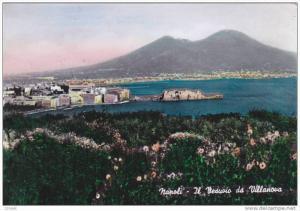 RP, Il Vesuvio Da Villanova, NAPOLI (Campania), Italy, PU-1958