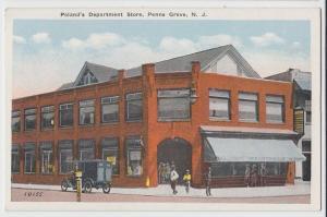 c1920 PENNS GROVE New Jersey NJ Postcard Salem County POLAND'S DEPARTMENT STORE