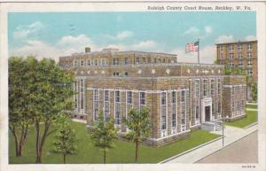 West Virginia Beckley Raleigh County Court House 1941 Curteich