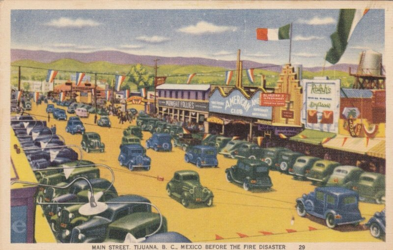 Mexico Tijuana Main Street Before The Fire Disaster sk1349a