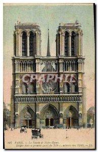 Postcard The Old Paris Facade of Notre Dame