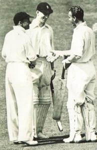 Nostalgia Postcard 1938 Cricketers Don Bradman, Joe Hardstaff, Len Hutton NS24