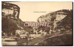 Old Postcard Baume Caves Village