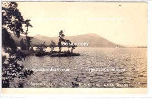 RPPC, Sugar Loaf & Black Mt, Lake George NY