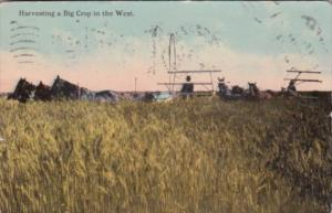 Harvesting A Big Crop In The West 1913