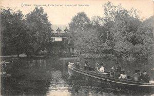 Lot 45 bremen burgerpark partie bei der meierei mit motorbot boat germany