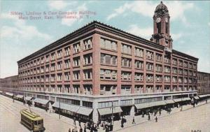 New York Rochester Trolley At Sibley Lindsay & Curr Company Building Main Str...