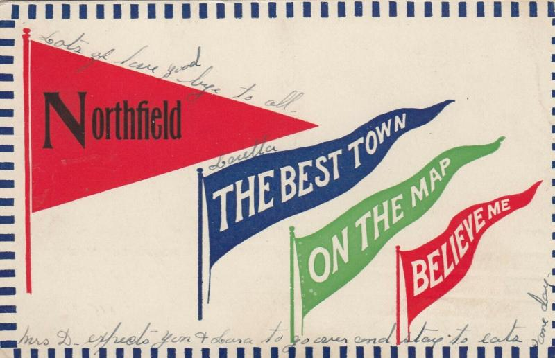 NORTHFIELD , Minnesota, 1914 ; Pendants, Northfield, The Best Town, On the Map