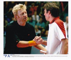 Michael Stitch vs Boris Becker Frankfurt Germany 2002 PA Tennis Press Photo
