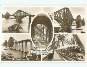 old rppc FIRTH OF FORTH Linne Foirthe - Fife & Lothian Scotland UK i2477