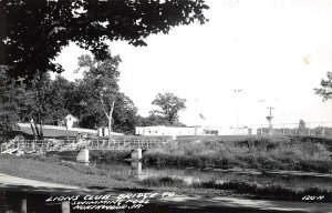 LP73 Northwood  Iowa Postcard RPPC Lions Club Bridge Swimming Pool