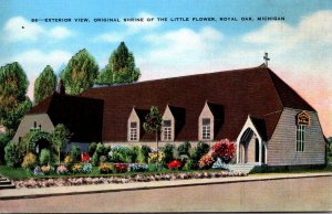 Michigan Royal Oak Shrine Of The Little Flower Exterior View 1942