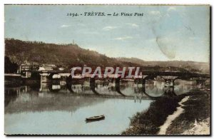 Old Postcard Treves Old Bridge