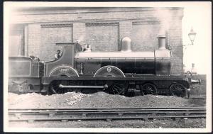 LONDON NORTHWESTERN Railroad Locomotive #989 RPPC unused
