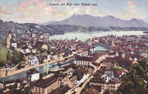 Switzerland Luzern mit Rigi vom Guetsch aus