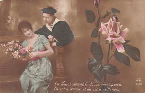 Couple: Ces fleurs seront la douce recompence, votre amour et de votre vaillance