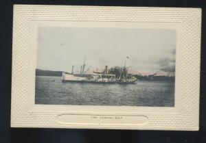 UNITED STATES NAVY U.S. LOADING SHIP MILITARY VINTAGE POSTCARD SWEDEBURG NEBR.
