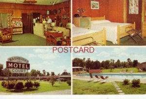 WASHBURN'S MOTEL COURT north of ROCKY MOUNT, N.C. T H & Margaret T Groome, Owner