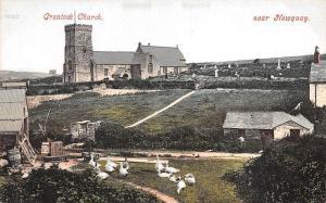 England Crantock Church, near Newquay, geese goose