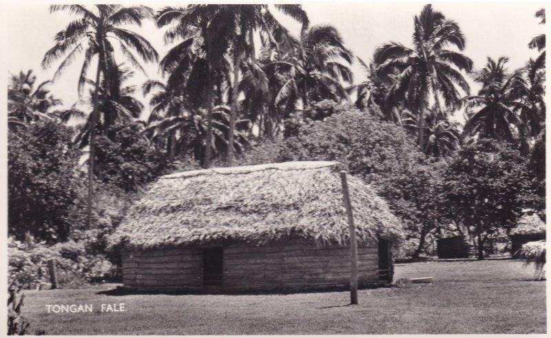 Tongan Fale Oceania Tonga nr New Zealand RPC Postcard