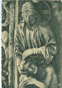 France, Cathedrale de Chartres Portail Nord Dieu creant Adam