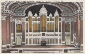 PORTLAND , Maine , 1910s , City Hall Pipe Organ