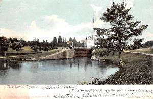 Sweden Old Vintage Antique Post Card Gota Canal 1906