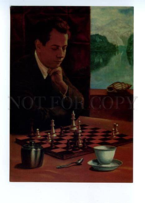 141627 Cuban chess player Capablanca & Marshall by SANDOR