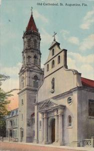 Florida Saint Augustine Old Cathedral 1914