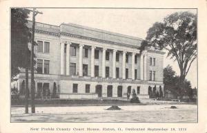 Eaton Ohio New Preble County Court House Antique Postcard J63674