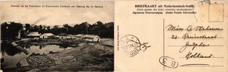 CPA Gezicht op de Fabrieken en Electrosche Centrale. Sabang. INDONESIA (378896)