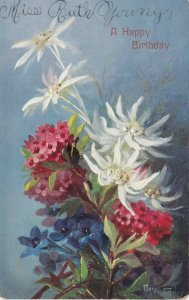 AS: MARY GOLAY, 1900-10s; A Happy Birthday, Colorful flowers