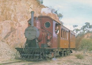 The Coffee Pot Train at Pichi Pichi Pass Australian Postcard