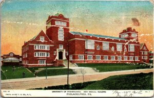 New Medical Building University of Pennsylvania Philadelphia PA 1906 - Postcard