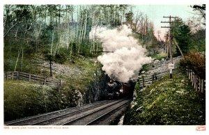 Massachusetts Berkshire Hills , Train leaving State Line Tunnel