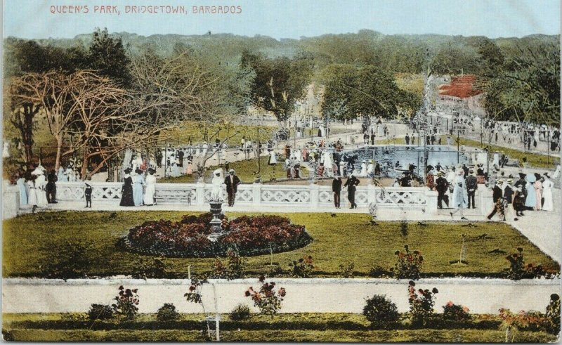 Queen's Park Bridgetown Barbados Unused WL Johnson Postcard E90