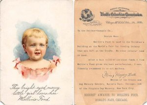 Victorian Trade Card Approx size inches = 4 x 5.75 Pre 1900 paper chip left b...