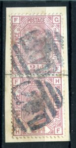 509602 Great Britain 1876 year Queen Victoria 21/2p used pair