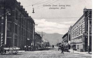 Callender Street, looking West, Livingston, Montana