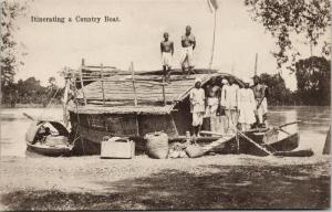 Itinerating a Country Boat India Unused Postcard E39
