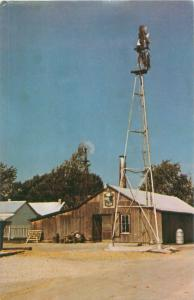 Amishville USA Windmill and Shed/Gift Shop Berne Indiana IN Vintage Postcard