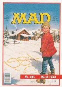 Lime Rock Trade Card Mad Magazine Cover Issue No 245 March 1984