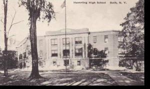 New York  Bath Haverling High School Albertype