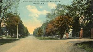 NY - Goshen, Entrance to Brownleigh Park & Main Street