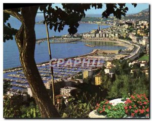 Old Postcard Menton French Riviera the new port in Old Town
