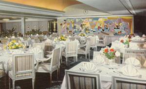 Oceanliner M.S. KUNGSHOLM, 1950-60s; Dining Room