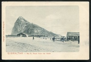 dc2005 - GIBRALTAR Postcard 1900s Rock from the North by Cumbo