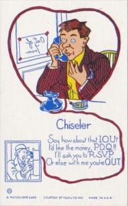 Humour Mutoscope Card The Chiseler