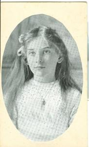 Girl, early 1900s unused Postcard