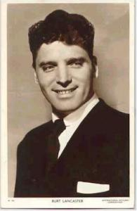 Burt Lancaster Actor / Actress Postcard Post Card Old Vintage Antique Movie S...